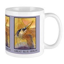Gold Moon Heron Coffee Mug