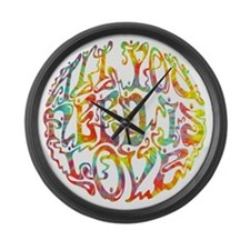 all-need-love-513-tdye-T Large Wall Clock