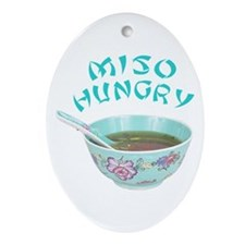 Miso Hungry Oval Ornament