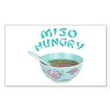 Miso Hungry Rectangle Sticker