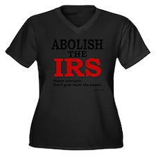 Abolish the  Women's Plus Size Dark V-Neck T-Shirt