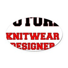 Future Knitwear Designer Oval Car Magnet