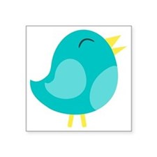 "Blue Bird Square Sticker 3"" x 3"""