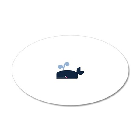 Whale 20x12 Oval Wall Decal