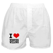 I Heart (Love) Weeping Willows Boxer Shorts