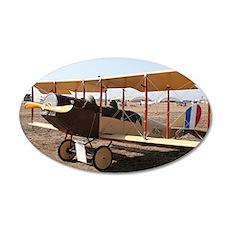 Curtiss Jenny Biplane Aircra 20x12 Oval Wall Decal