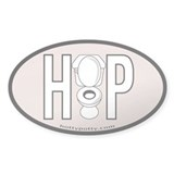 Pewter Oval Decal