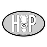Light Grey Oval Decal