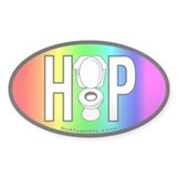 Rainbow Oval Decal
