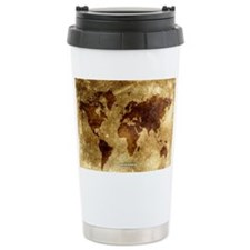 Vintage World Map Thermos Mug