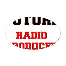 Future Radio Producer Oval Car Magnet