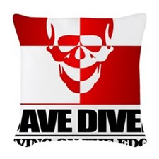 Cave Diver (Skull) Woven Throw Pillow