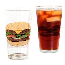 Big Juicy Hamburger Drinking Glass