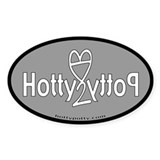 Dark Grey Hotty Potty OG Logo Oval Decal