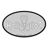 Light Grey Hotty Potty OG Logo Oval Decal
