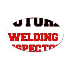 Future Welding Inspector Oval Car Magnet
