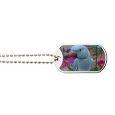 Indian Ringneck Parakeet Closeup Dog Tags
