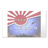 Truck Lagoon Sticker (Rectangular)