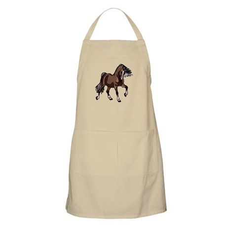 Spirited Horse Dark Brown BBQ Apron