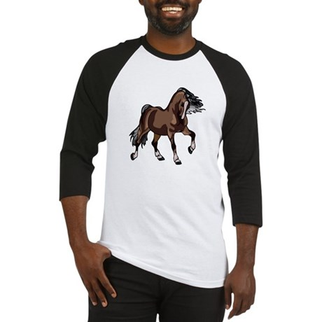 Spirited Horse Dark Brown Baseball Jersey