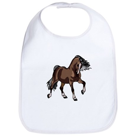 Spirited Horse Dark Brown Bib