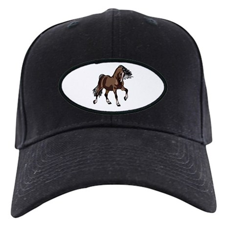 Spirited Horse Dark Brown Black Cap