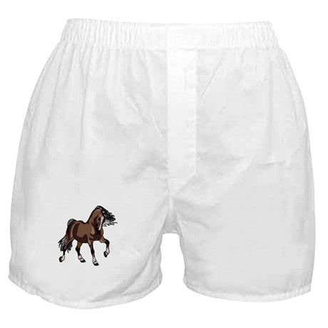 Spirited Horse Dark Brown Boxer Shorts