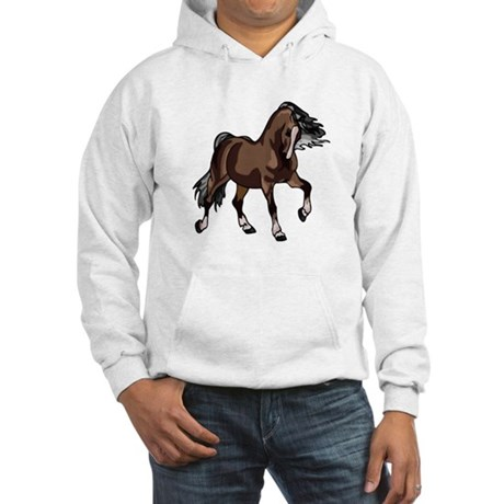 Spirited Horse Dark Brown Hooded Sweatshirt