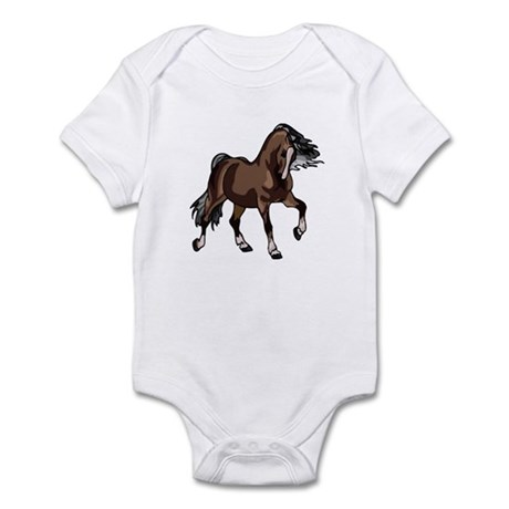 Spirited Horse Dark Brown Infant Bodysuit
