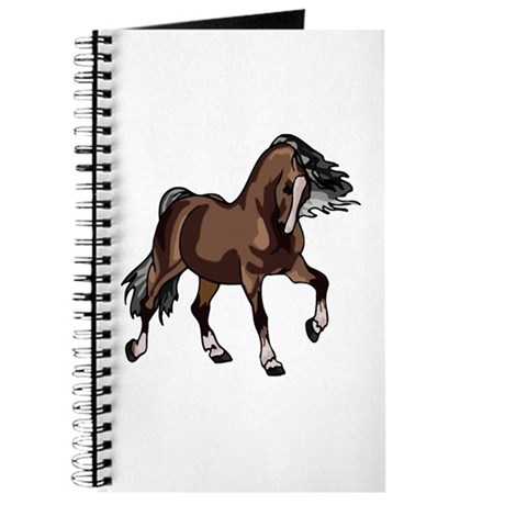 Spirited Horse Dark Brown Journal