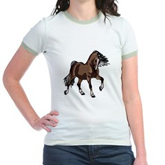Spirited Horse Dark Brown Jr. Ringer T-Shirt