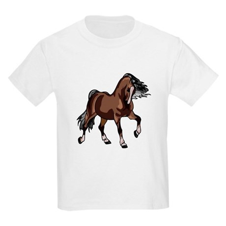 Spirited Horse Dark Brown Kids Light T-Shirt