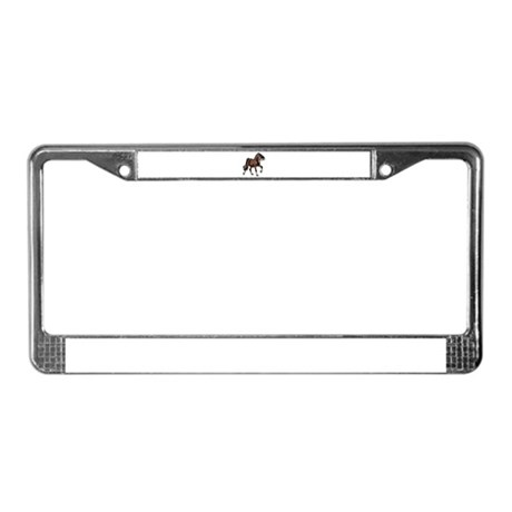 Spirited Horse Dark Brown License Plate Frame