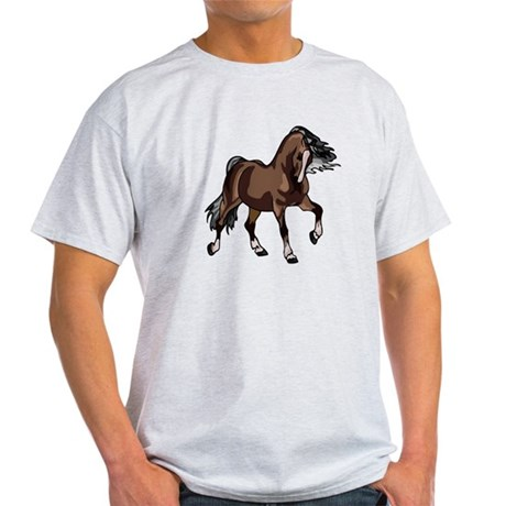 Spirited Horse Dark Brown Light T-Shirt