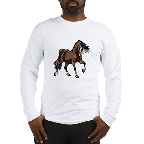 Spirited Horse Dark Brown Long Sleeve T-Shirt
