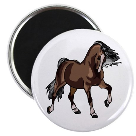 "Spirited Horse Dark Brown 2.25"" Magnet (100 pack)"