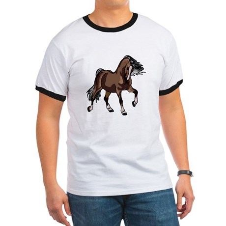 Spirited Horse Dark Brown Ringer T