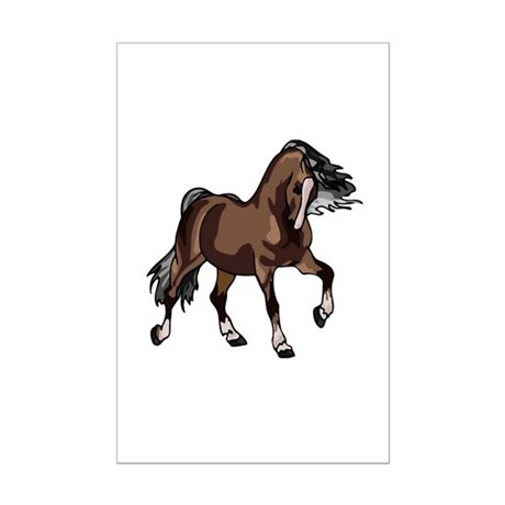 Spirited Horse Dark Brown Mini Poster Print