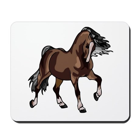 Spirited Horse Dark Brown Mousepad