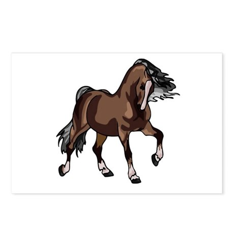 Spirited Horse Dark Brown Postcards (Package of 8)