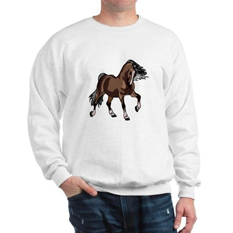 Spirited Horse Dark Brown Sweatshirt