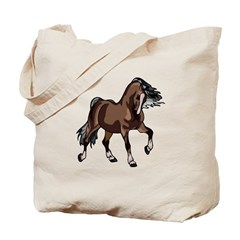 Spirited Horse Dark Brown Tote Bag