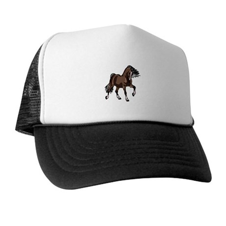 Spirited Horse Dark Brown Trucker Hat