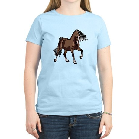 Spirited Horse Dark Brown Women's Light T-Shirt