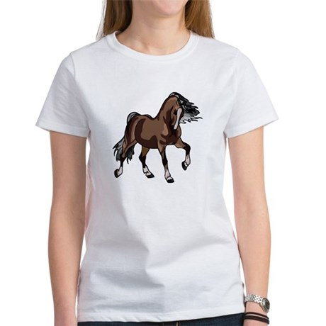 Spirited Horse Dark Brown Women's T-Shirt