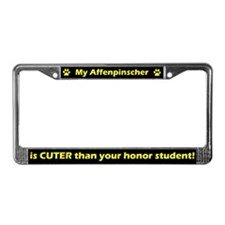 Honor Student Affenpinscher License Plate Frame