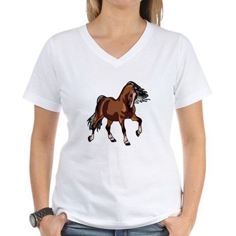 Spirited Horse Women's V-Neck T-Shirt