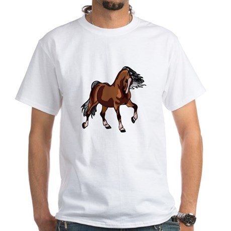 Spirited Horse White T-Shirt