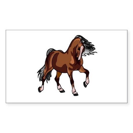 Spirited Horse Rectangle Sticker