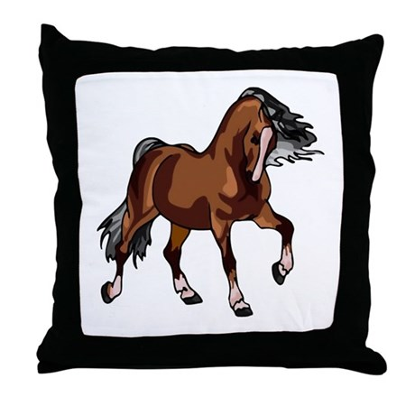 Spirited Horse Throw Pillow
